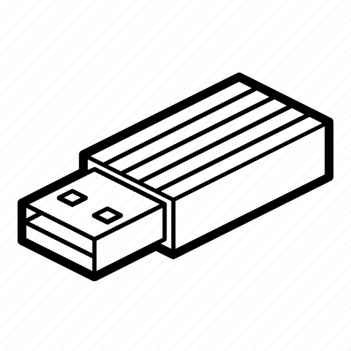 computer, data, drive, flash, memory, storage, usb icon