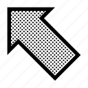 align, arrow, left, orientation, position, top