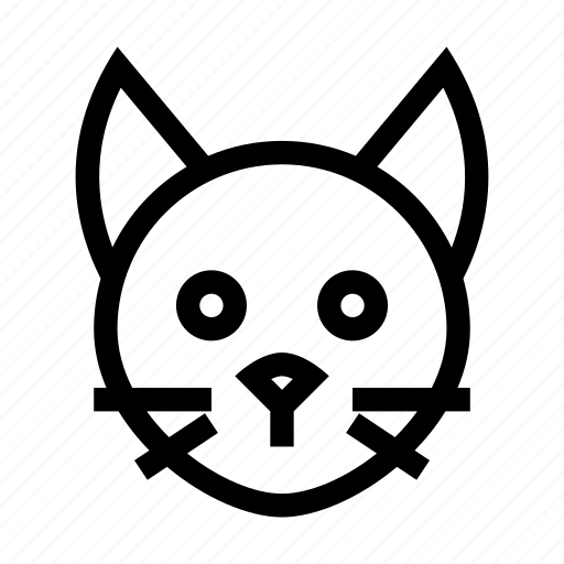 Animal, cat, domestic, head, kitty, pet icon - Download on Iconfinder