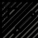 measure, pen, pencil, rule, ruler, triangle, triangular icon