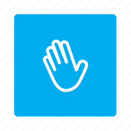 accessibility, fingers, gesture, hand, swipe, tap, touch icon