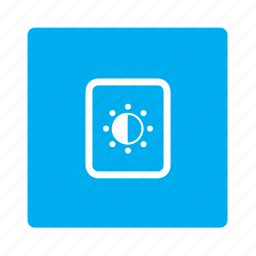 brightness, configuration, contast, display, options, preferences, settings icon