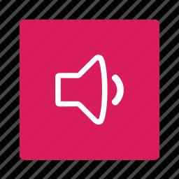 audio, control, music, player, sound, speaker, volume icon