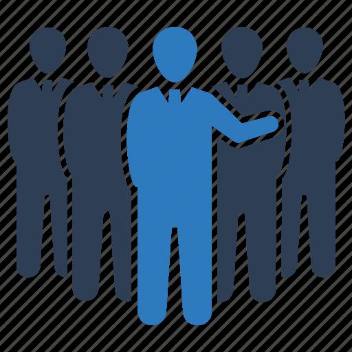 Business leadership, group, marketing team, team, teamwork icon - Download on Iconfinder