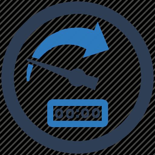 dashboard, performance, productivity, speedometer icon