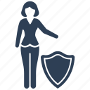 business, protection, safe, secure, security, shield icon