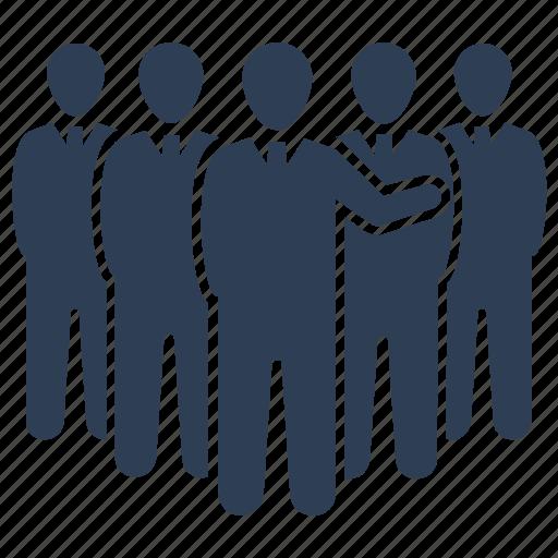 business leadership, group, team, teamwork icon