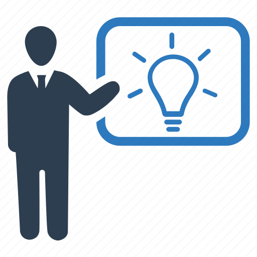 brainstorming, business, idea, planning, presenting, solution, strategy icon
