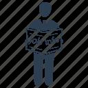 employee, employment, finding job, information, job info, job seeker icon