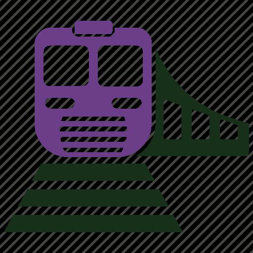 rail, railroad, railway, subway, train, tramway, transportation icon