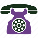 call, cell, communication, old phone, phone, talk, telephone icon
