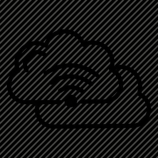 cloud, data, internet, technology, wifi icon