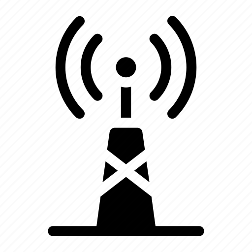 antennas, communications, mobile, radio frequency, radio tower, signal, signal tower icon