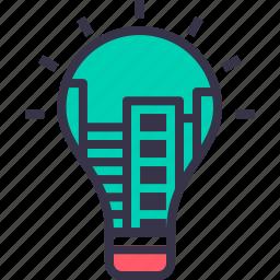 apartment, building, city, construction, development, energy, smart icon