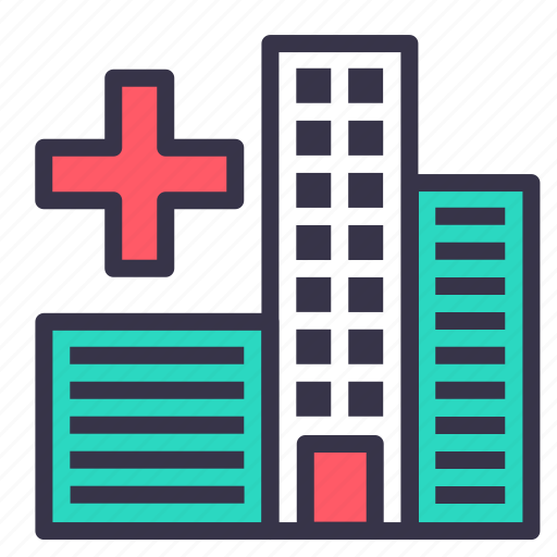 building, city, health, help, hospital, smart, treatment icon