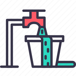 city, management, savewater, smart, waste, water icon