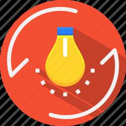 bulb, city, energy, flash, lamp, light, smart icon