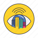 automatic, automation, buildings, city, eye, smart, watch icon