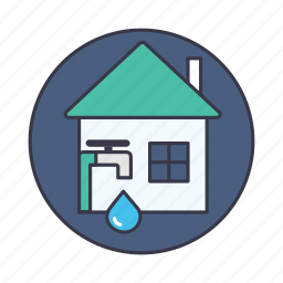 automatic, city, management, measurement, savewater, smart, water icon