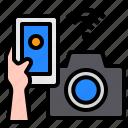 camera, smartphone, mobile, hand, technology, control, internet