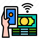 finance, smartphone, mobile, hand, technology, control, internet