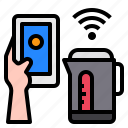 kettke, smartphone, mobile, hand, technology, control, internet