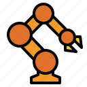 factory, industry, robot icon