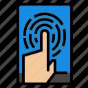 finger, fingerprint, id icon