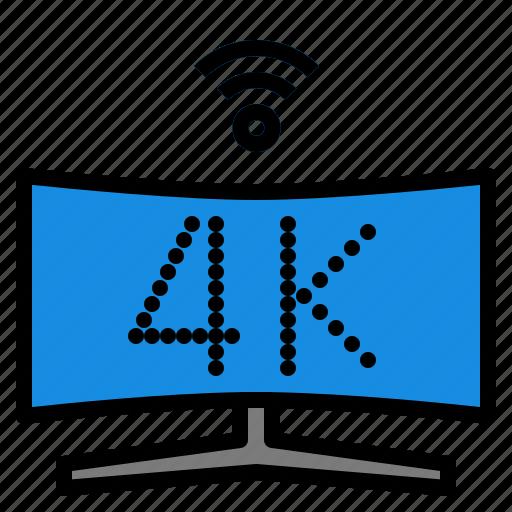 4k, smart, tv icon