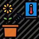 plant, sensor, smart icon