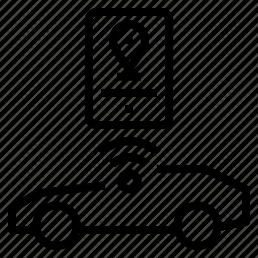car, location, navigator icon