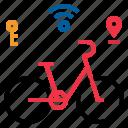 bicycle, smart icon