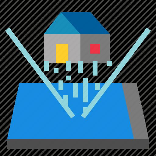 hologram, smartphone icon
