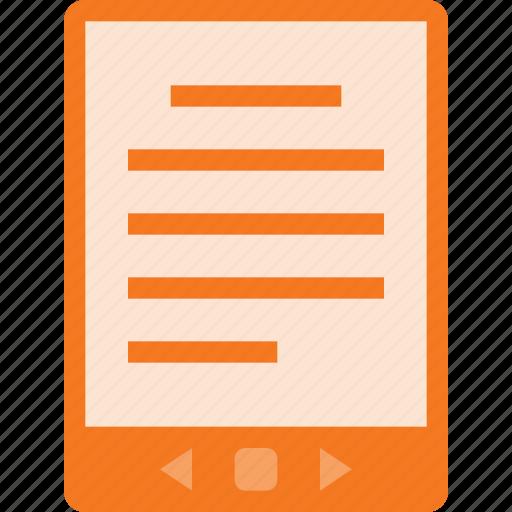 book, display, e, ebook, read, reader icon
