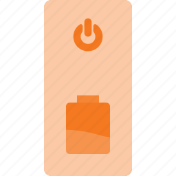 bank, battery, charger, external, power icon