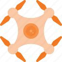 drone, fly, quadcopter, technology icon
