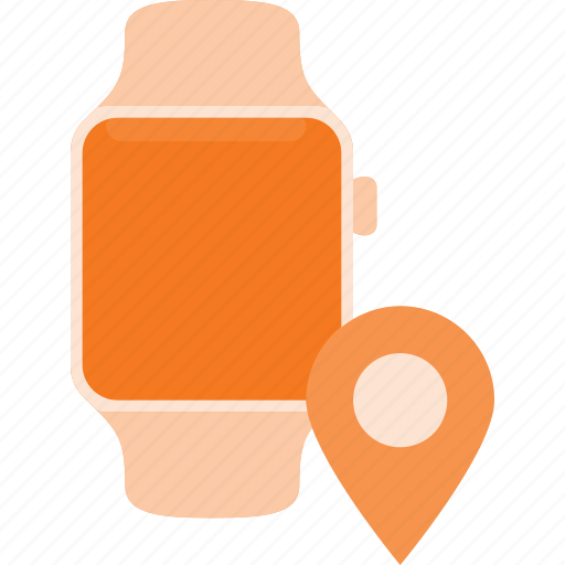 concept, location, smart, smartwatch, technology, watch icon