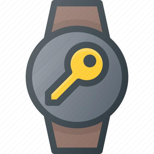 concept, key, smart, smartwatch, technology, watch icon