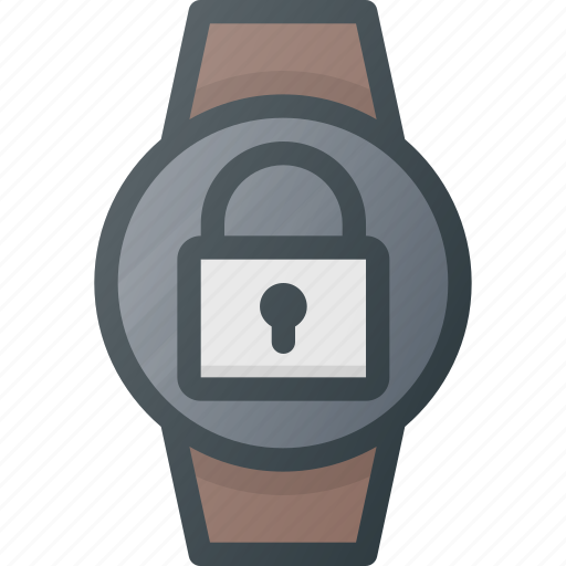 concept, lock, smart, smartwatch, technology, watch icon