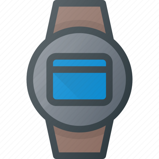 concept, payment, smart, smartwatch, technology, watch icon