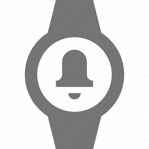 alarm, bell, smart watch, watch icon