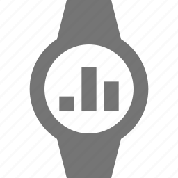 graph, smart watch, watch icon