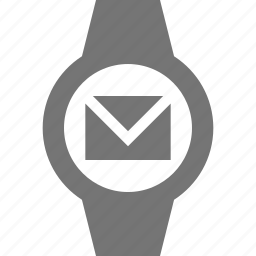 chat, email, message, smart watch, watch icon