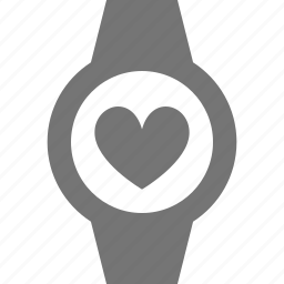 heart, like, smart watch, watch icon
