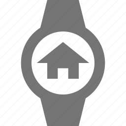 home, house, smart watch, watch icon