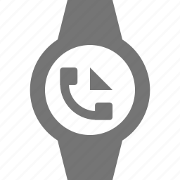 call, incoming call, smart watch, watch icon