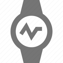 graph, line, smart watch, watch icon