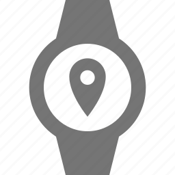 location, smart watch, watch icon