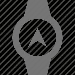 navigation, smart watch, watch icon