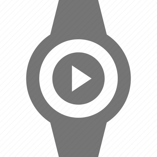 play, smart watch, watch icon